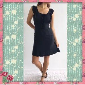 NEW! Betsey Johnson Designer Black Silk Dress 4